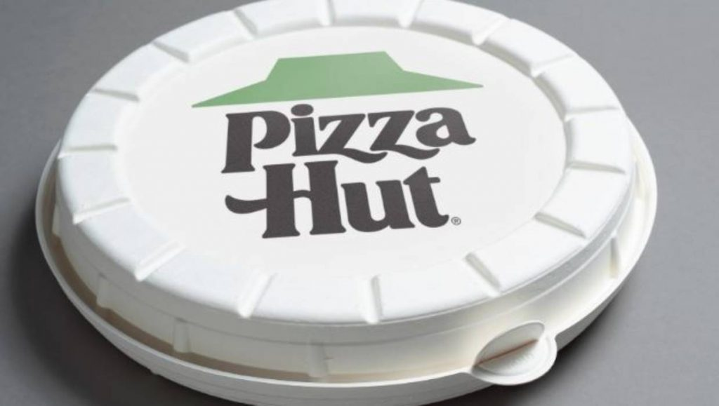 Pizza Hut packaging pizza scatola rotonda