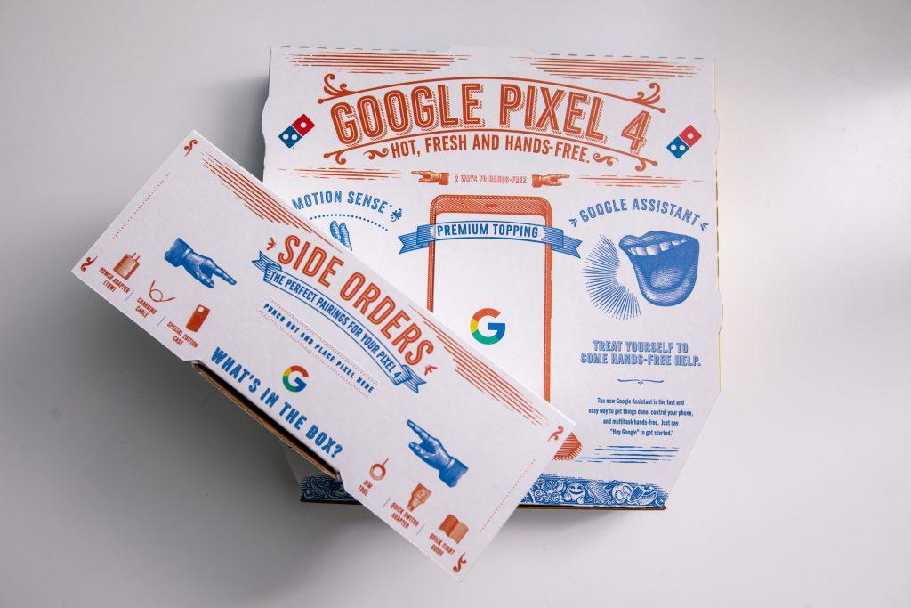 Google Pixel 4 Cartone Pizza
