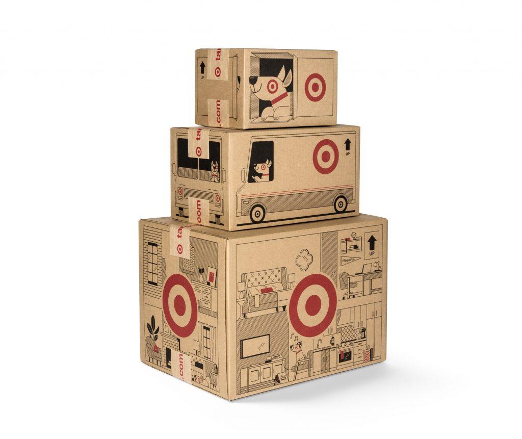 target, bullseye, cardboard, box