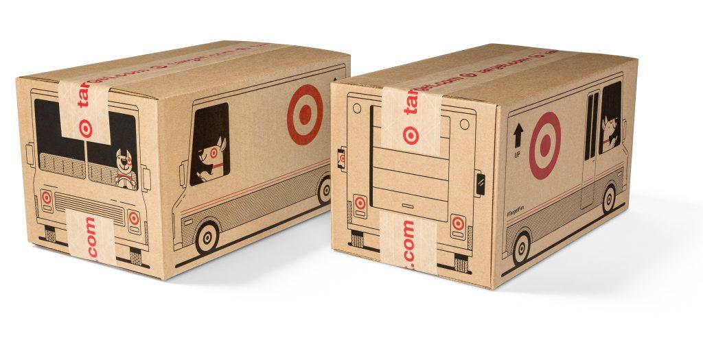 Target cardboard boxes bullseye