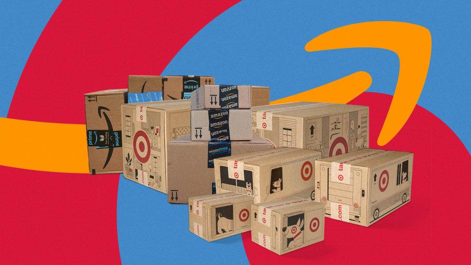 amazon target boxes scatole cartone