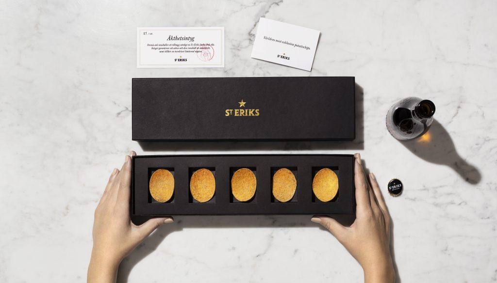 L'elegante packaging delle patatine St. Eriks