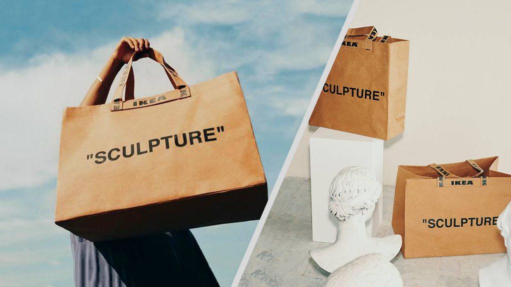 Ikea, shopper, sculture