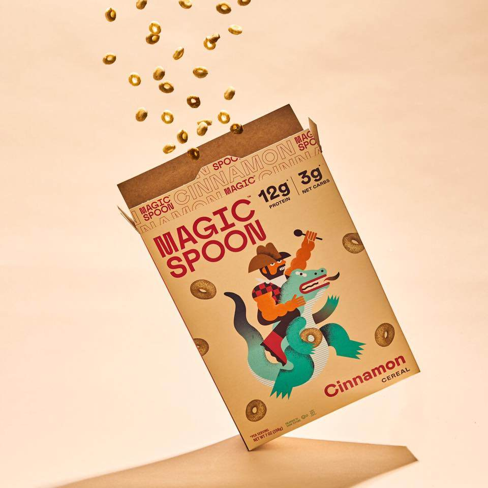 Magic Spoon, packaging, cereals, design, graphic, healthy