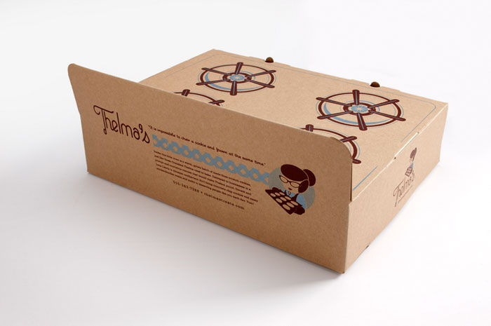packaging, biscotti, scatola, cardboard, Thelma's Treats