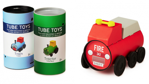 tube toys, Oscar Diaz, toys, car, packaging, paperboard