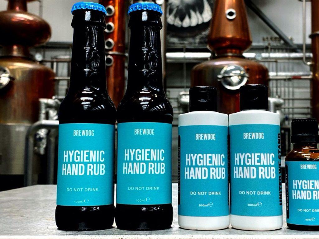 packaging, covid-19, brand, gel igienizzante, bottiglie, brew dog,