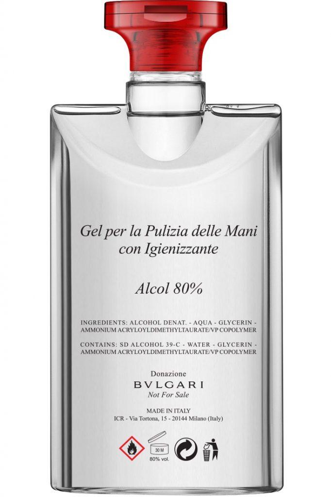 packaging, covid-19, brand, gel igienizzante, bottiglie, bulgari