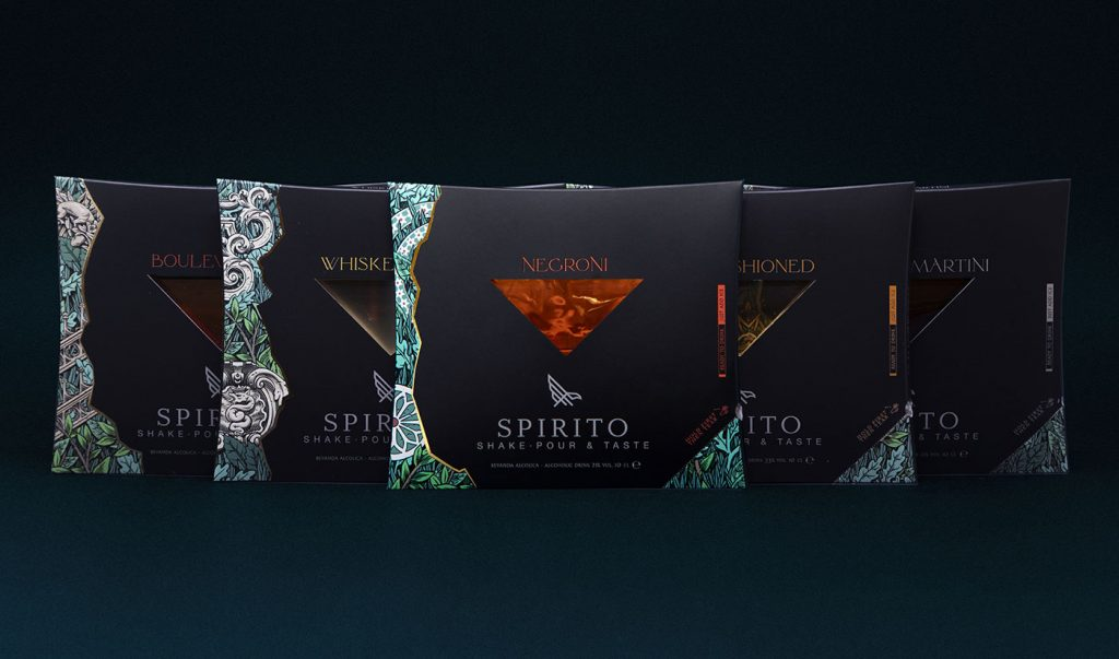 Spirito, ready to drink, packaging