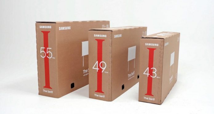 Samsung, Lifestyle tv, box, cardboard, cat, box, repurposing