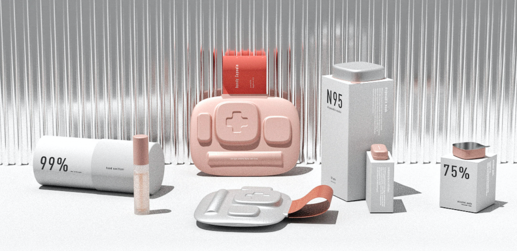 Handy Capsule, Kira Zhu, kit, sanitation, packaging, covid-19