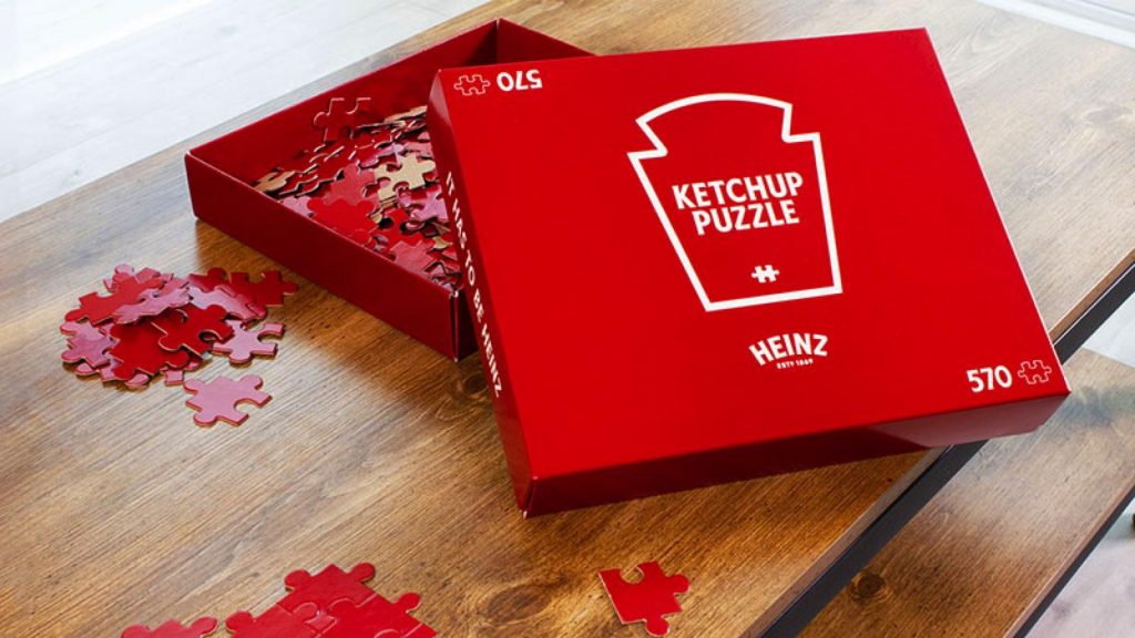 packaging, box, ketchup, heinz, puzzle