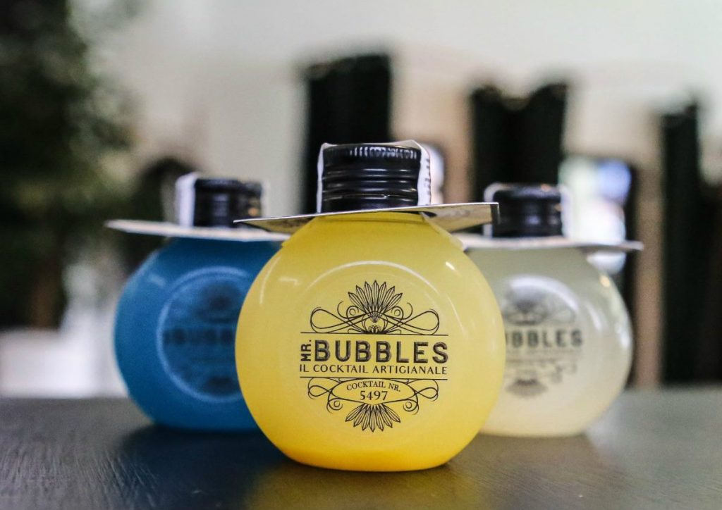 Mr Bubbles, ready to drink, packaging