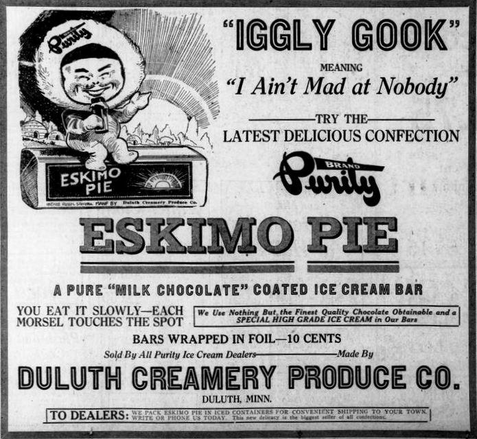 Eskimo Pie, packaging, razzismo