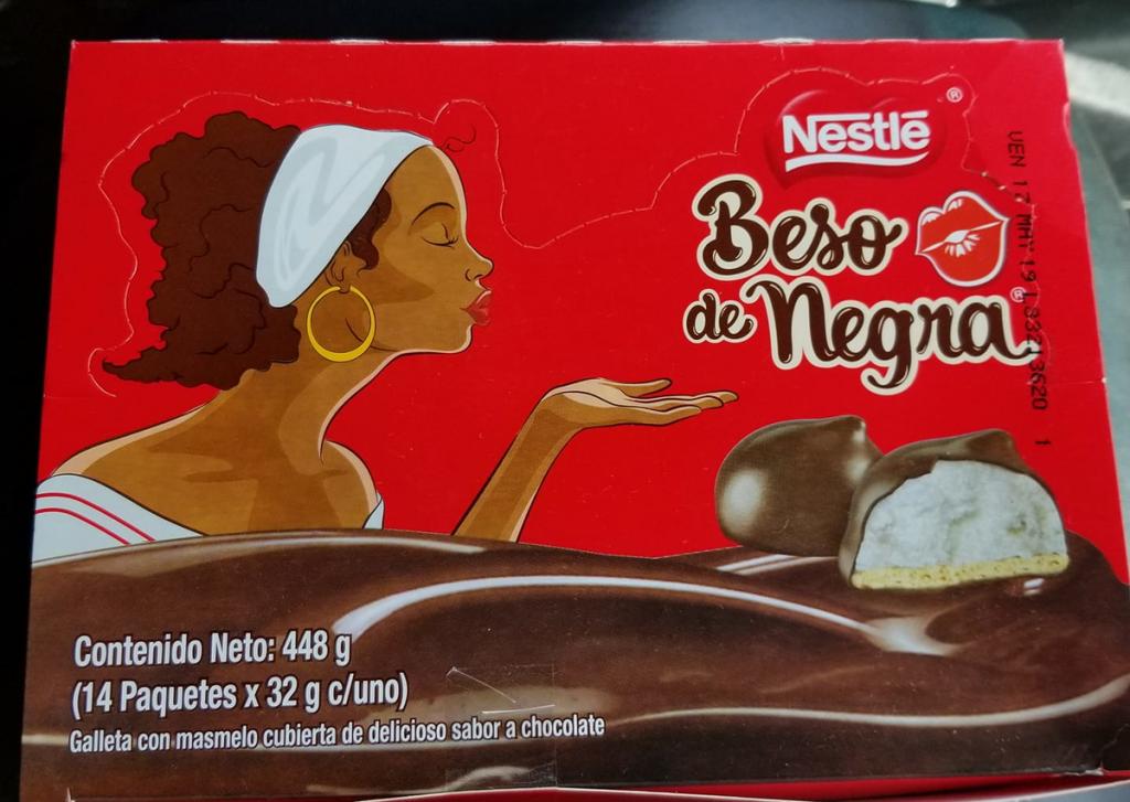 Beso de Negra, packaging, razzismo