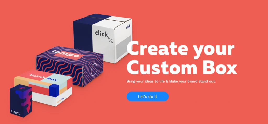 Packwire, home page, personalizzazione box